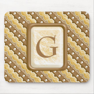 Rail Fence - Chocolate Marshmallow Mouse Pad