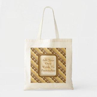 Rail Fence - Chocolate Marshmallow Tote Bag