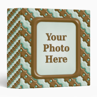 Rail Fence - Chocolate Mint 3 Ring Binder