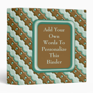 Rail Fence - Chocolate Mint Binder