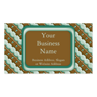Rail Fence - Chocolate Mint Business Card