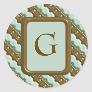 Rail Fence - Chocolate Mint Classic Round Sticker