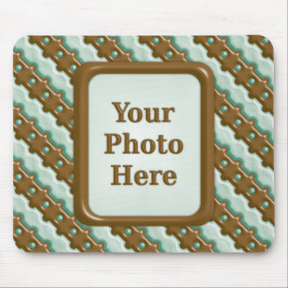Rail Fence - Chocolate Mint Mouse Pad