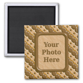 Rail Fence - Chocolate Peanut Butter 2 Inch Square Magnet
