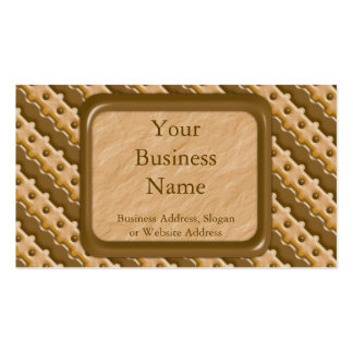 Rail Fence - Chocolate Peanut Butter Business Card