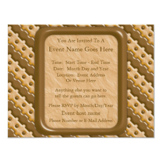 Rail Fence - Chocolate Peanut Butter Card