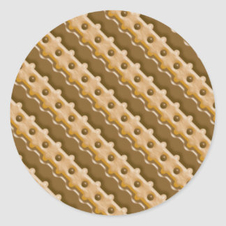 Rail Fence - Chocolate Peanut Butter Classic Round Sticker