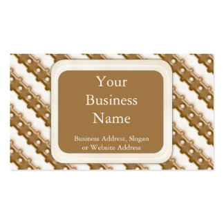 Rail Fence - Milk Chocolate and White Chocolate Business Card