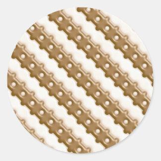 Rail Fence - Milk Chocolate and White Chocolate Classic Round Sticker