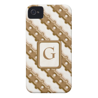 Rail Fence - Milk Chocolate and White Chocolate iPhone 4 Cover