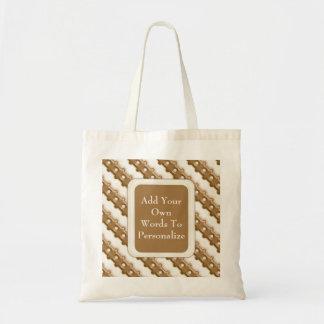 Rail Fence - Milk Chocolate and White Chocolate Tote Bag
