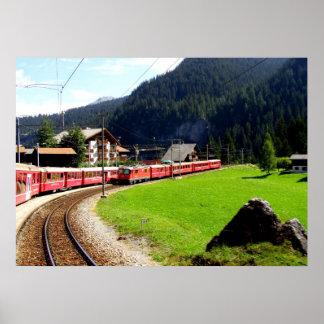 Rail journey to Arosa, Switzerland Poster