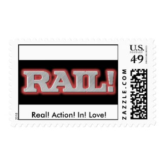 Rail, Real! Action! In! Love! Stamps