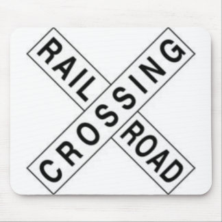 RAIL ROAD CROSSING MOUSE PAD
