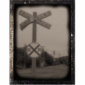 Rail Road Crossing Photo Sculpture