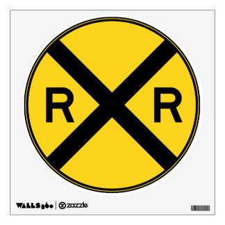 Rail Road Crossing Wall Sticker