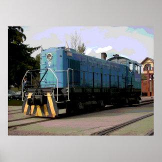 Rail road Diesel Locamotive 1 Poster