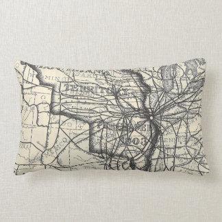 Rail Road Map Lumbar Pillow