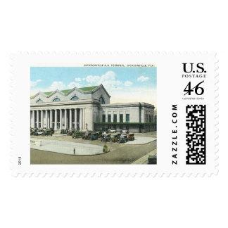 Rail Road Station Jacksonville Florida Postage Stamps