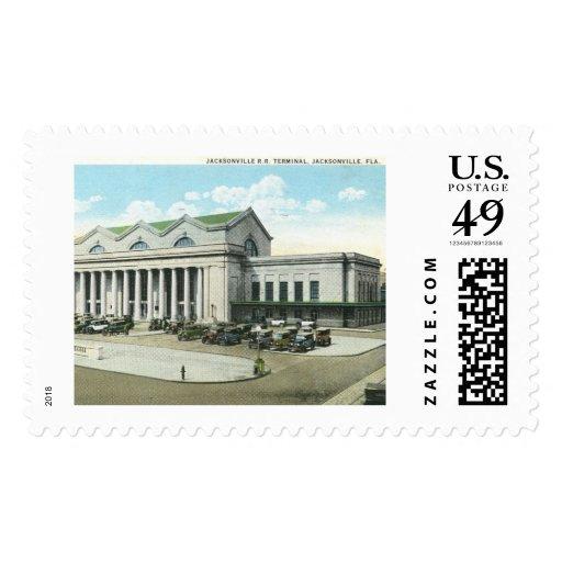 Rail Road Station, Jacksonville, Florida Stamp