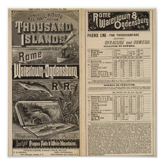 Rail Route to the Thousand Islands Poster