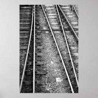 Rail track print
