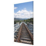 Rail Tracks On Top Of Eiffel Bridge Gallery Wrapped Canvas