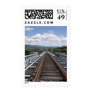 Rail Tracks On Top Of Eiffel Bridge Stamp