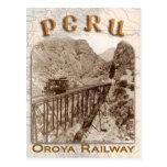 Rail transport in Peru Postcard