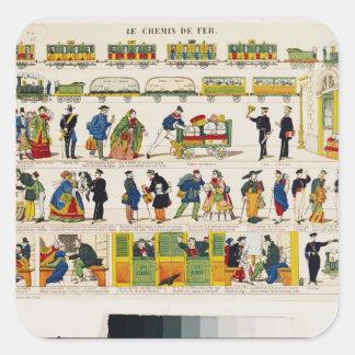 Rail Travel, c.1850 Square Sticker