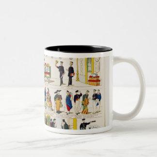 Rail Travel, c.1850 Two-Tone Coffee Mug