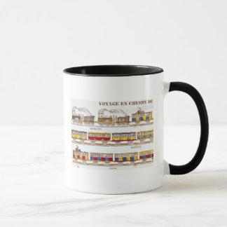 Rail Travel in 1845 Mug