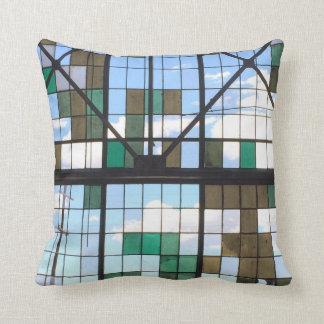 Rail Window Throw Pillow
