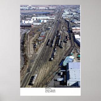 Rail Yard, Sparks, Nevada Poster