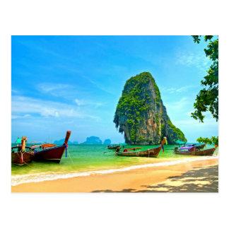 Railay Beach Krabi, Thailand Postcard