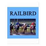 Railbird de la carrera de caballos postal
