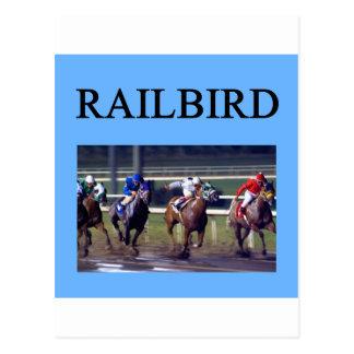 Railbird de la carrera de caballos postales