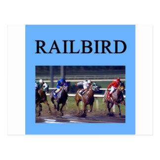 Railbird de la carrera de caballos tarjetas postales