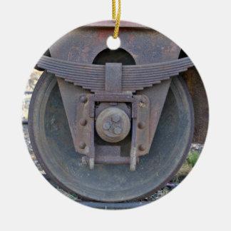 Railcar wheel christmas ornaments