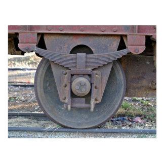 Railcar wheel postcard