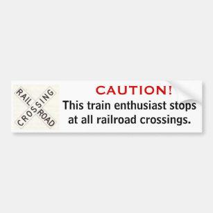 Super Railroad Bumper Stickers - Car Stickers | Zazzle LX17