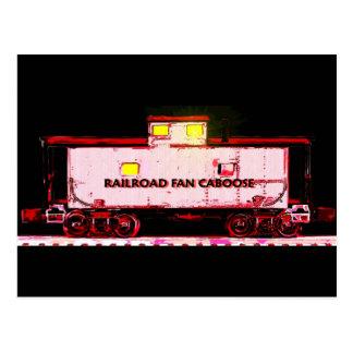 Railfan Caboose Postcard