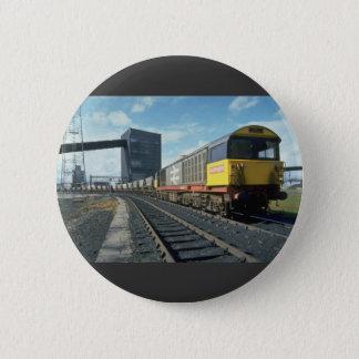 Railfreight coal train at U.K. power station, U.K. Pinback Button
