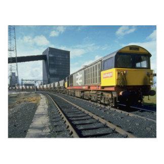 Railfreight coal train at U.K. power station, U.K. Postcard