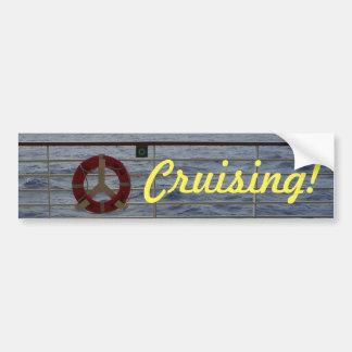 Railing Cruising Bumper Sticker