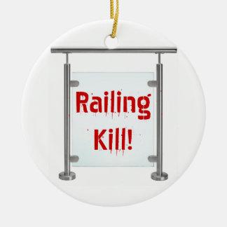 Railing Kill! Double-Sided Ceramic Round Christmas Ornament