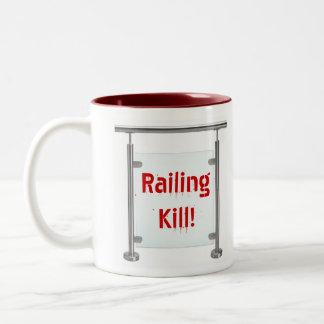 Railing Kill! Two-Tone Coffee Mug