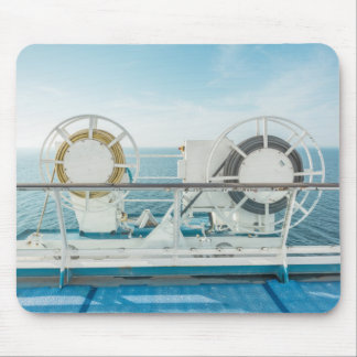Railing Of A Cruise Ship Mouse Pad