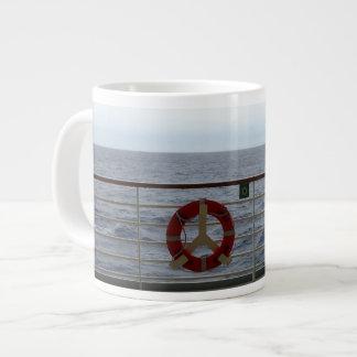 Railing of Cruise Ship Giant Coffee Mug