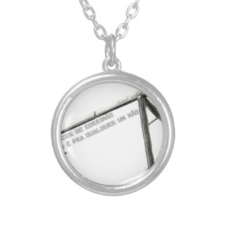 railing silver plated necklace